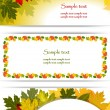 Banners of the environment.Autumn background. — Stock Vector