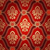 Seamless pattern background.Damask wallpaper. — Stockvektor