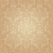 Seamless pattern background.Damask wallpaper. — Vector de stock
