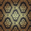 Seamless pattern background.Damask wallpaper. — Imagens vectoriais em stock