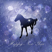 Christmas background with horse — Stock Vector