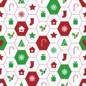 Christnas background. seamless wallpaper. — Vector de stock