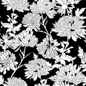 Floral pattern. Background with chrysanthemum. — Vector de stock