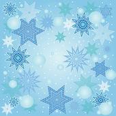 圣诞雪花背景. — 图库矢量图片