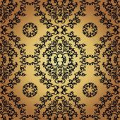 Seamless pattern background.Damask wallpaper. — Stock Vector