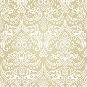 Damask Vintage Floral Seamless Pattern Background. — Stock Vector