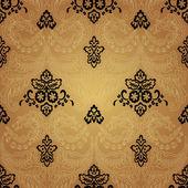 Damask Vintage Floral Seamless Pattern Background. — Stockvektor
