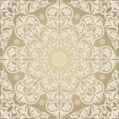 Damask Seamless With Baroque Ornaments. — Stockvector