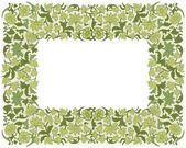 Save the Date Floral Card.  Border Frame . — Stock Vector