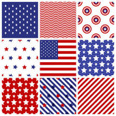 Set of seamless  in  american colors. — Vettoriale Stock