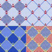 Marine patterns — Stockvector