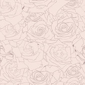 Floral seamless pattern. Background with roses. — Stock Vector