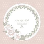 αποθηκεύσετε την ημερομηνία floral κάρτα. — Διανυσματικό Αρχείο