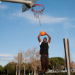 Black basketball player - Stock Photo