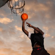 Stock Photo: Black basketball player