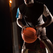 Black basketball player — Stock Photo