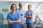 Portrait of a dentist team — Stock Photo