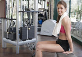 Relaxing after a hard gym session — Stock Photo