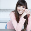 Gorgeous young female smiling confidently — Stock Photo