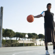 Street basketball player posing — Stock Photo