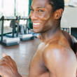 Black mduring his gym workout — Stock Photo #28486129