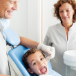 Child at dentist surgery. — Stock Photo