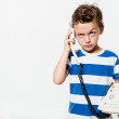 Child talking on the phone. — Stock Photo