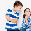 Beautiful pair of brothers. Boy and girl — Stock Photo