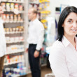 Customer in a pharmacy — Stock Photo