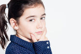 A very expressive little girl — Stock Photo