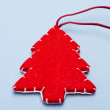 Стоковое фото: Christmas ornaments. Handmade crafts