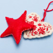 Christmas ornaments. Handmade crafts — Stockfoto #35739399