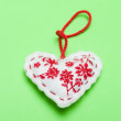 Foto de Stock  : Christmas ornaments. Handmade crafts
