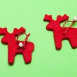 Christmas ornaments. Handmade crafts — Stock Photo