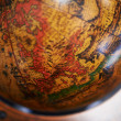 Detail of a wood globe — Stock fotografie