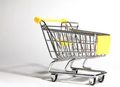 Empty shopping carts at the store — Stock Photo