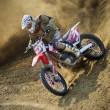 Dirt bike pilot (motor sport) — Stock Photo