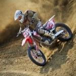 Dirt bike pilot (motor sport) — Stock Photo