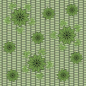 Decorative flowers on grid background — Vecteur