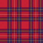 Checkered tartan fabric seamless pattern — Stock Vector