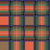 Checkered tartan fabric seamless texture — Stock Vector