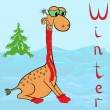 Why Giraffe is so cold in winter? — Stock Vector
