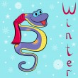 Stock Vector: Why is it so cold in winter Boa?