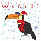 Dlaczego toucan jest tak zimno w zimie? — Wektor stockowy