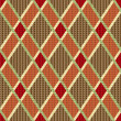Rhombic tartred and brown fabric seamless texture — Stock Vector #41284347