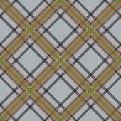 Diagonal tartan brown and gray fabric seamless texture  — Stockvektor