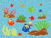 Underwater marine life — Stock Vector