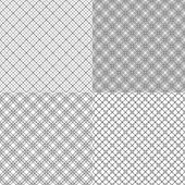 Four mesh seamless patterns with dashed lines — Stock Vector