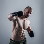 Young Male Fighter — Stock Photo