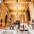 Manhattan Grand Central Station with people walking — Stock Photo